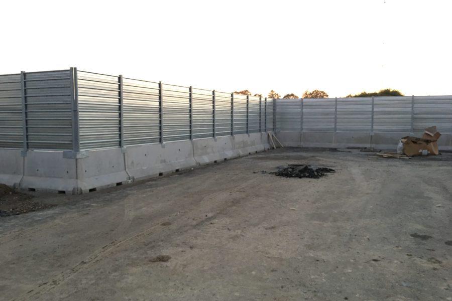 New Jersey e recinzione per cantieri temporanei di Siziano