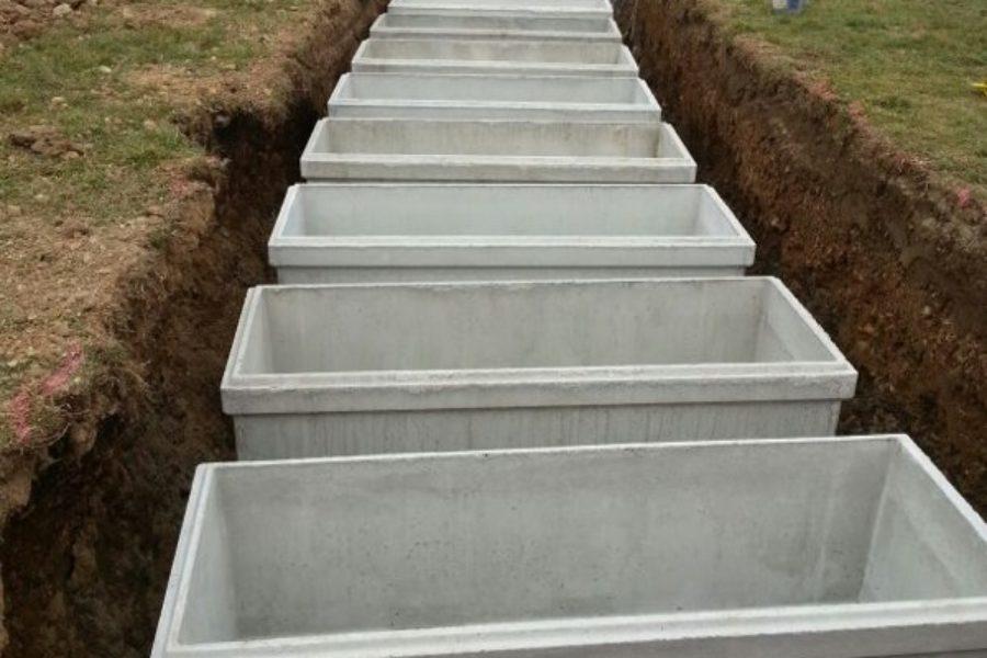 Cassoni e colombari in cemento per cimiteri